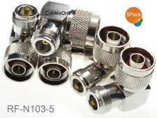 5-Pack N-Type Male to N-Type Female Right Angle Adapter, CablesOnline RF-N103-5
