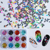 Holographic Marquise Nail Sequins Glitter Paillette Stickers Tips Born Pretty 2g