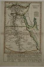 EGYPT 1792 ANONYMOUS UNUSUAL ANTIQUE COPPER ENGRAVED MAP SPANISH EDITION
