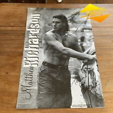 1990's *SIGNED* MATTHEW RICHARDSON MEN FOR ALL SEASONS PROMO POSTER VFL AFL