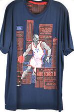 Nike Blue Kobe Bryant News Paper Clippings Dri-Fit T shirt Size L
