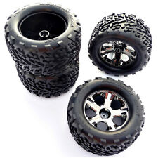 Traxxas 1/10 Stampede 4x4 VXL * FRONT/REAR TALON TIRES, ALL STAR WHEELS * 12mm