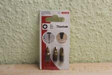 Bosch 3tlg. Schrauberbit-Set Titanium PZ1 PZ2 PZ3