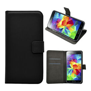 Luxury Quality Real Leather Flip Case Wallet Cover For Samsung Galaxy NEW Models