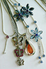 Lot of 4 Swet multi style design Butterfly Flower link chains charm Necklace