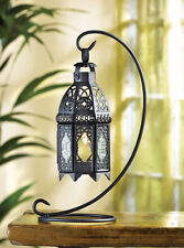 "Set of 10 Black Moroccan Hanging Table Lanterns 13"" TALL WEDDING LOT NEW"