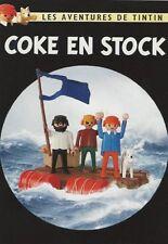 EO CARTE POSTALE TINTIN COUVERTURE PLAYMOBIL COKE EN STOCK ( 201 EXS )