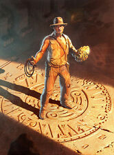 Indiana Jones Raiders of the Lost Ark Peruvian Temple Gold Idol Giclée on Canvas