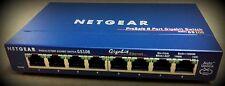 Commutateur NETGEAR gs-108 8 port Gigabit 10/100/1000 Mbit/s Ventilateur avec bloc d'Alimentation