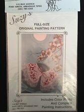 Full Size Painting Fabric Tole Pattern Instructions Dogwood Flowers 1987