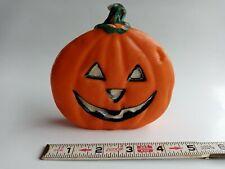 "Vintage 4½"" Jack-O'-Lantern Halloween Pumpkin Wax Candle Looks Tasty"
