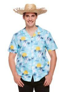 MEN TROPICAL HAWAIIAN SUNSET PRINTED HAWAIIAN FANCY DRESS STAG BEACH PARTY SHIRT
