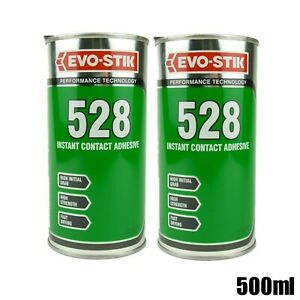 2 x Bostik 500ml 528 Instant Contact Adhesive EVO-STIK High Strength