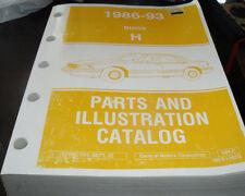 1986 87 88 89 90 91 92 93 Buick Lesabre Parts/Illustrations Book 44HC