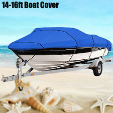 14 15 16 Ft Waterproof Trailerable Heavy Duty Fabric Boat Cover V-hull 90'' Beam