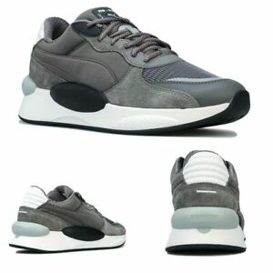 Men's Puma RS 9.8 Gravity Trainers in Grey Black 100% Authentic - New- UK seller