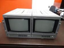 "Lot 2 Sony PVM-8040 8"" Inch Video Monitors"