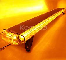 """63"""" 1610MM 120W LED WORK LIGHT BAR BEACON EMERGENCY WARNING STROBE LIGHTS AMBER"""