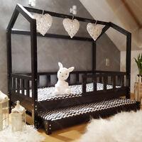 Mon lit cabane, Lit pour enfants,lit d'enfant,lit cabane avec tiroir & barrière