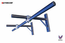 Gymcor Multi-Grip Pull Up Bar Wall Mounted Commercial Quality - Crossfit free UK