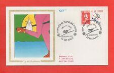 FDC 1990 - XVIe Jeux Olympiques Hiver - ALBERTVILLE 1992 - Ski de vitesse (1166)