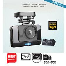 """Dash Camera Lukas V975 / LK-9350 2CH Full-HD UV Filter 3.5""""LCD Dual 8+8Gb+GPS"""