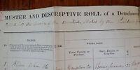 MUSTER ROLL 1st PENNSYLVANIA ARTILLERY BATTERY A 1864 CIVIL WAR DOCUMENT