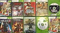 Lot Of 10 XBox 360 Games, Red Dead Redemption, Medieval Great Battles, Gears War