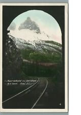MT. CATHEDRAL FROM UPPER ENTRANCE, RR TRACKS NO.2 TUNNEL, FIELD BC., PHOTO, RPPC
