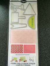 SIZZIX HAPPY HEARTS SET 5 DIES 2 EMBOSSING FOLDERS LAUGH CELEBRATE HAPPINESS
