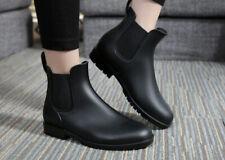 PVC Women's Fashion Rain Shoes Anti Slip Rain Boots Flat Heel Low Galoshes