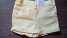 Baby girls M&S denim shorts adjustable elastic waist age 6-9 months bnwt **