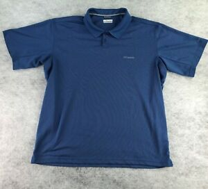 Columbia Men's Blue Short Sleeve Polo Shirt Size XXL