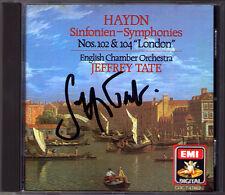 Jeffrey TATE Signiert HAYDN Symphony No.102 & 104 London EMI CD 1986 Sinfonien
