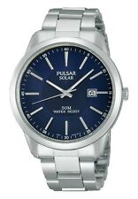Pulsar Solar Powered PX3021X1 Blue Dial Stainless Steel Analogue