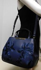 "Guess Embroidered Floral Blue Crossbody Shoulder Bag Handbag Satchel Purse ""NWT"""