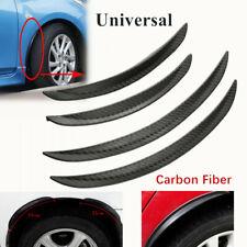 4pcs Universal Carbon Fiber Wheel Eyebrow Body Kit Fender Lip Car Truck Part PVC