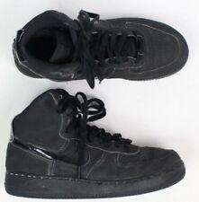 """Nike Air Jordan Af1 boys size 6.5Y Mid """"Triple Black"""" Flatbrush shoe sneaker"""