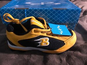 Boombah Baseball Cleats Size Youth 4.5 Black Gold New