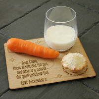 Personalised Christmas Eve Treat Board Platter with Message For Santa & Reindeer