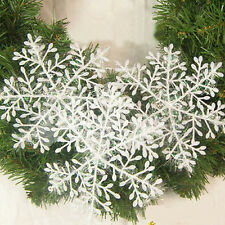 30PCS Christmas Lovely Snowflake Charms For Festival Home Ornaments Decor FT84
