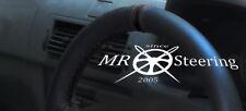Para Renault Megane I 1995-2003 Cubierta del Volante Cuero Genuino + Correa Negra