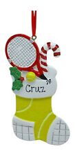 PERSONALIZED Tennis Ball Stocking Sports Christmas Tree Ornament Holiday Gift