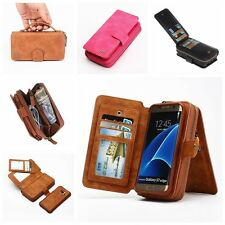 Wallet Purse Magnetic Leather Case Card Purse Handbag Cover For iPhone 8 Samsung