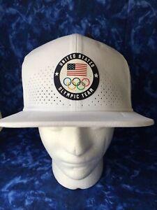 NEW Nike Dri-Fit Olympic Team USA Aerobill White Hat Cap Baseball NWT'S
