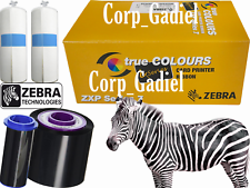 Paquete De 3 unidades Genuino Zebra Cinta ZxP 7 YMCKO 750 Images Series # 800077-742.