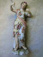 Antica Statuetta di Porcellana Liberty Originale del'900