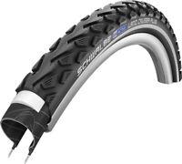 700C Bike Tyre Clincher Schwalbe Marathon Touring Wire 700X28c Black//Reflex