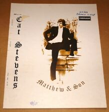 CAT STEVENS MATTHEW SON AUTHENTIC PRINTER'S PROOF ORIGINAL PRODUCTION ARTWORK