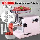 Heavy Duty 3500W Powerful Electric Meat Grinder Mincer Sausage Maker w/3 Blade photo